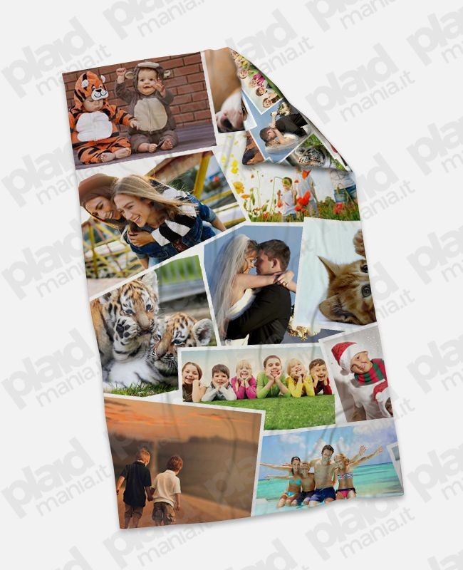Pile Con Foto Personalizzata.Plaid Coperta In Pile Mini 75x100 Personalizzata Con Foto Collage E Retro Foto Collage Plaid Mania