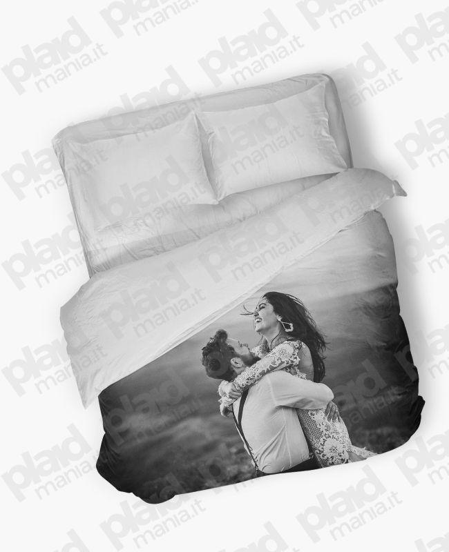 half off 66449 a0e72 Piumino matrimoniale maxi 240X240 personalizzato con foto - Plaid Mania