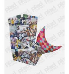 Plaid coda di Sirena grande 185 cm personalizzato con foto collage