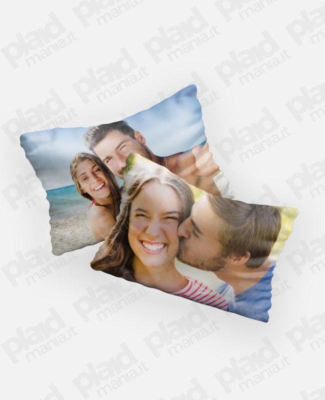 Federe cuscini coppia 80x50 personalizzata con foto