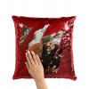Cuscino Quadrato Pailettes 35X35 Personalizzato con foto