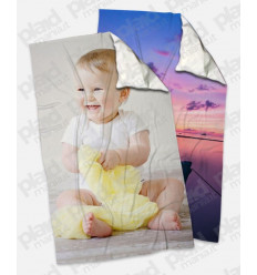 Offerta Black Friday - 2 Plaid 100x180 Personalizzati con una foto