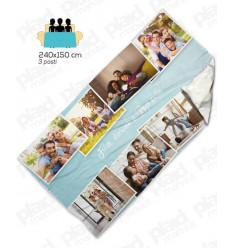Plaid da divano - Coperta in pile 240x150 cm personalizzata con foto per 3 posti