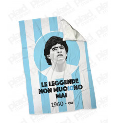 Plaid - Coperta in pile 130X180 personalizzata con foto Maradona - Leggenda