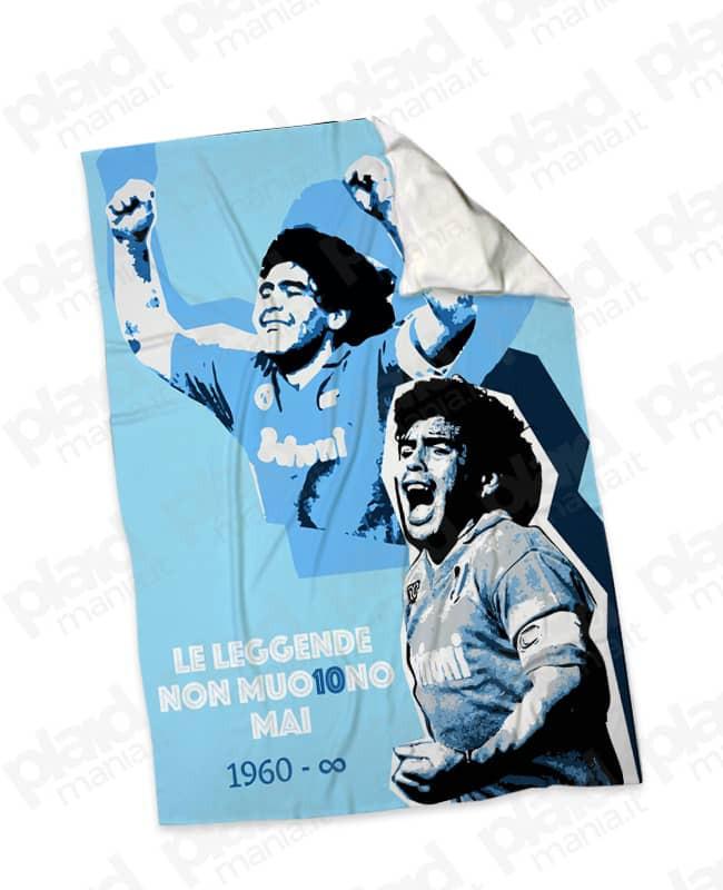 Plaid - Coperta in pile 130X180 personalizzata con foto Maradona - D10S