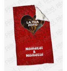 Plaid - Coperta in pile personalizzata con foto - In Love