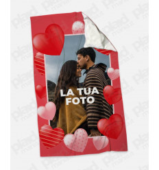 Plaid - Coperta in pile personalizzata con foto - My Love