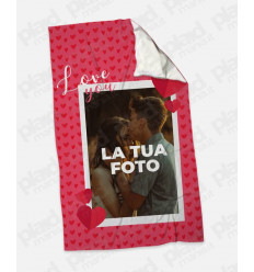 Plaid - Coperta in pile personalizzata con foto - Only Love