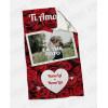 Plaid - Coperta in pile personalizzata con foto - Rose Love