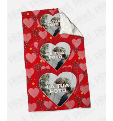 Plaid - Coperta in pile personalizzata con foto - Three Love
