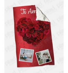 Plaid - Coperta in pile personalizzata con foto - Ti Amo