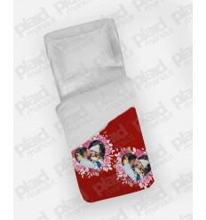 Piumino singolo personalizzato con foto - Red Love