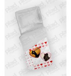 Piumino singolo personalizzato con foto - White Love