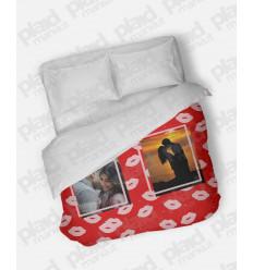 Piumino matrimoniale personalizzato con foto - Kiss