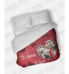 Piumino matrimoniale personalizzato con foto - Red Love