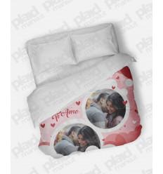 Piumino matrimoniale personalizzato con foto - Ti Amo