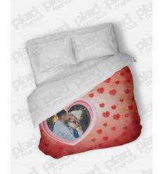 Piumino matrimoniale personalizzato con foto - Heart