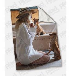 Plaid - Coperta in pile matrimoniale 200X180 personalizzata con una foto