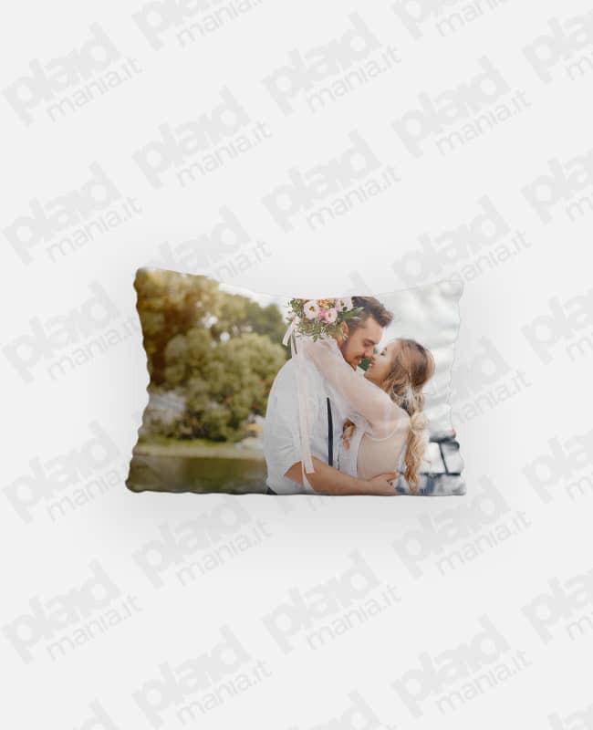 Federa cuscino singolo 80x50 personalizzata con foto - Me&You