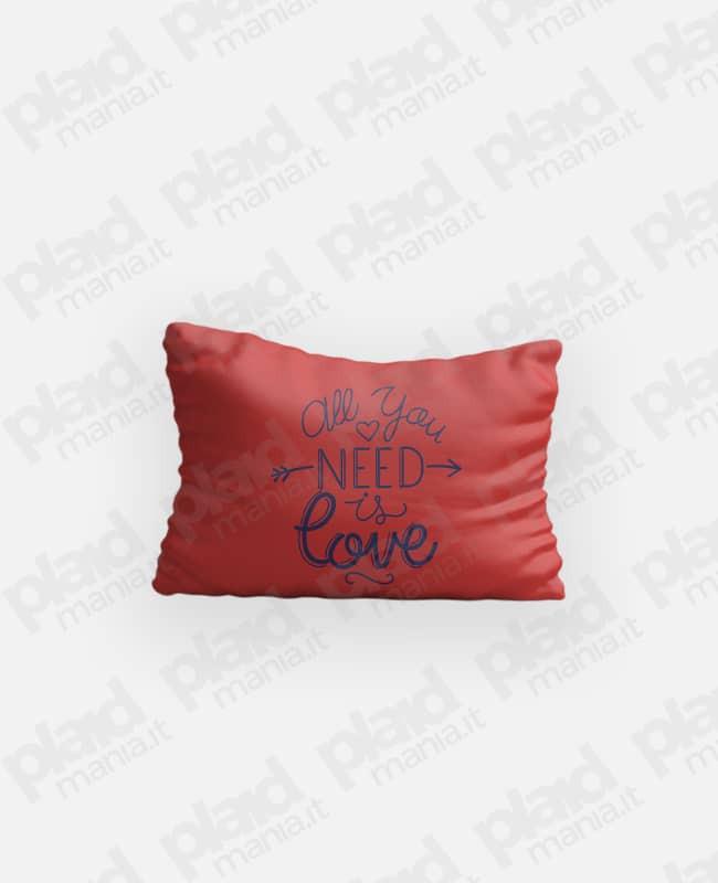 Federa cuscino singolo 80x50 personalizzata - Need Love