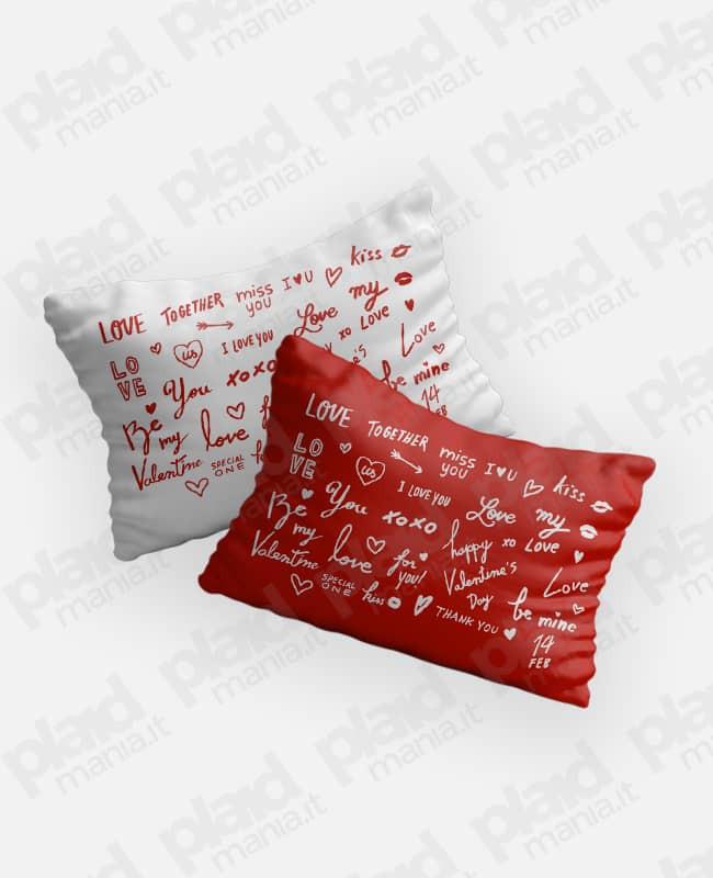Federe cuscino coppia 80x50 personalizzate - Love