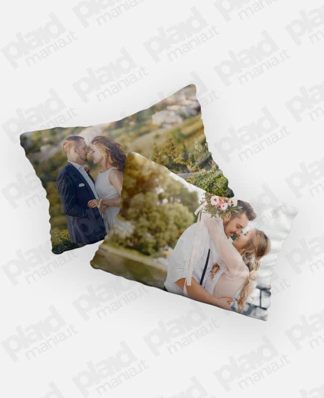 Federe cuscino coppia 80x50 personalizzate con foto - Me&You