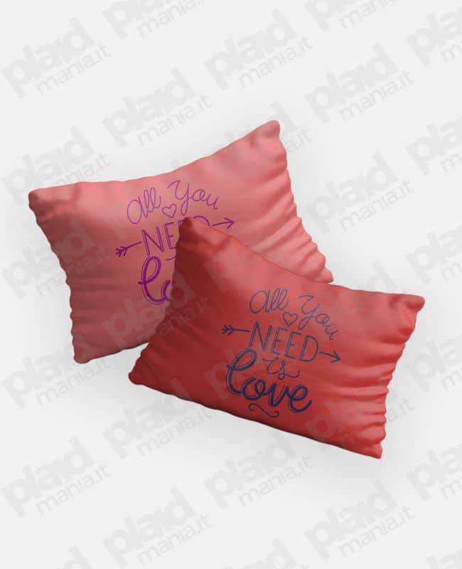 Federe cuscino coppia 80x50 personalizzate - Need Love