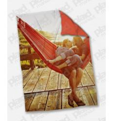 Plaid - Coperta in pile matrimoniale 200X180 personalizzata con una foto retro colorato