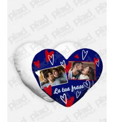 Cuscino forma Cuore personalizzato San Valentino - Blue Heart