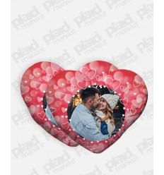 Cuscino forma Cuore 40X40 Personalizzato con foto - San Valentino