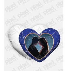 Cuscino forma Cuore personalizzato San Valentino - Blue Love