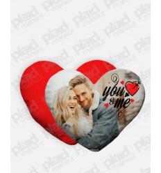 Cuscino forma Cuore personalizzato San Valentino - You&Me