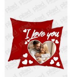 Cuscino forma Quadrata personalizzato San Valentino - I Love You