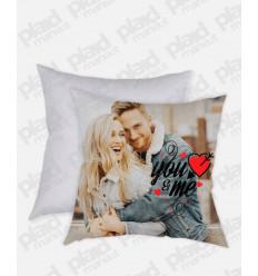 Cuscino forma Quadrata personalizzato San Valentino - You&Me