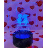 Lampada da tavolo 3D a led personalizzata con nome - Altalena