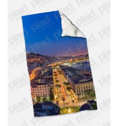 Plaid - Coperta in pile singola maxi 100X180 personalizzata con fotografia di Napoli