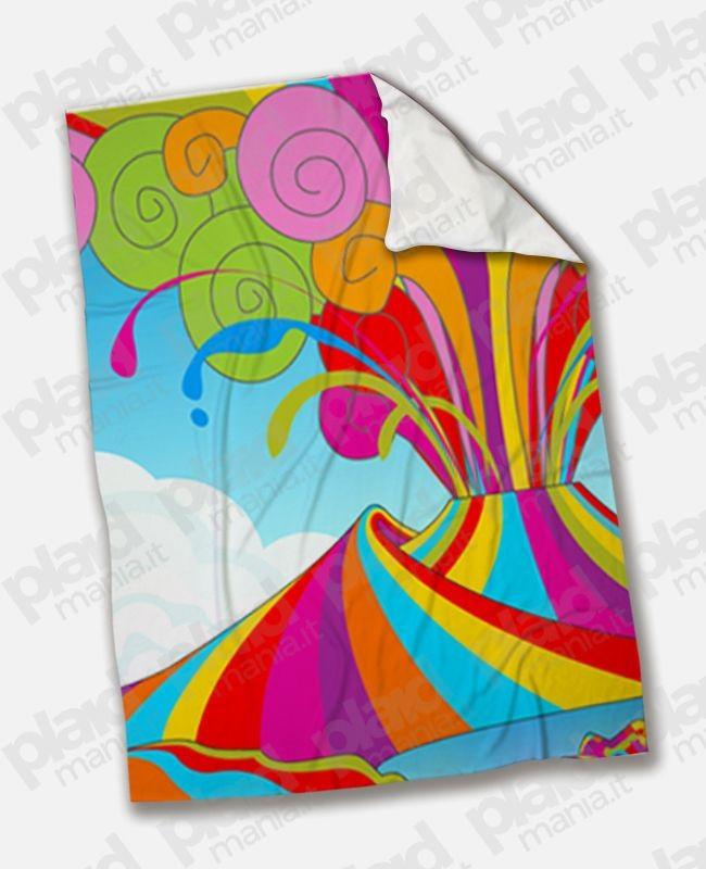 Coperta Matrimoniale Personalizzata Con Foto.Plaid Coperta In Pile Matrimoniale 200x180 Personalizzata Con Illustrazione Di Napoli Plaid Mania