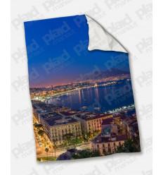 Plaid - Coperta in pile matrimoniale 200X180 personalizzata con fotografia di Napoli