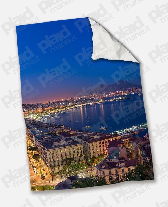 Plaid - Coperta in pile matrimoniale 200X180 personalizzata con fotografia  di Napoli - Plaid Mania