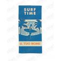 TELO MARE SINGOLO PERSONALIZZATO CON NOME – SURF TIME - 90X160 CM