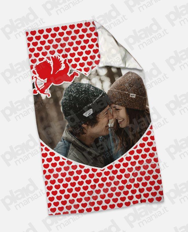 Plaid - Coperta in pile 100x180 Love personalizzata con una foto - Cupido