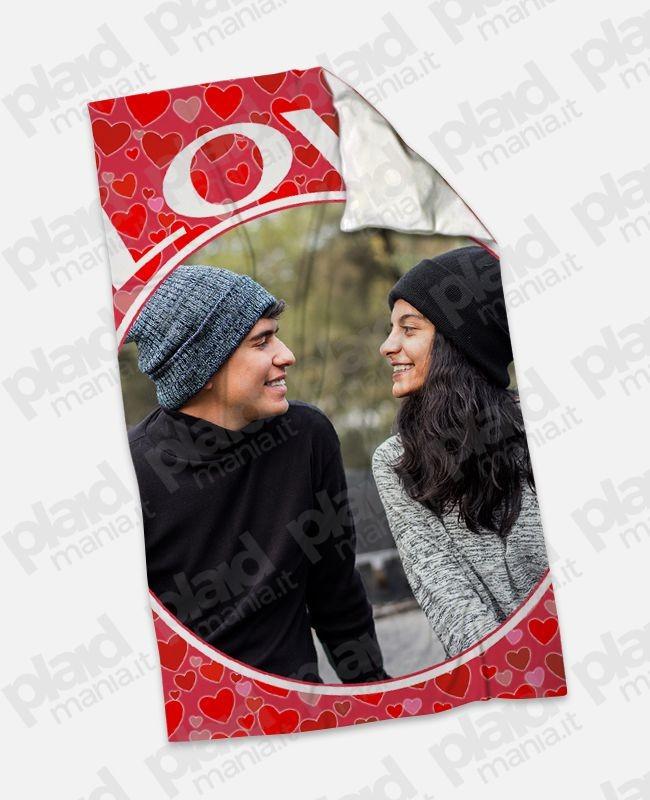 Plaid - Coperta in pile 100x180 Love personalizzata con una foto - Love
