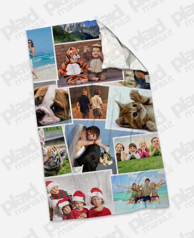 Pile Con Foto Personalizzata.Plaid Coperta In Pile Mini 75x100 Personalizzata Con Foto Collage Plaid Mania