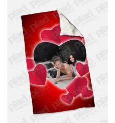 Plaid - Coperta in pile 100x180 Love personalizzata con una foto - Petali Cuore