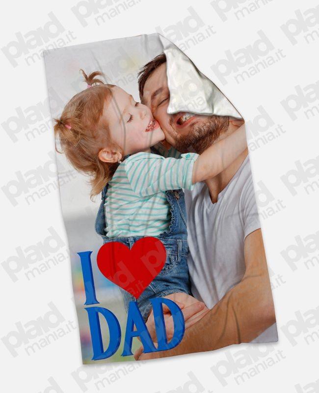 Coperta Pile Personalizzata Con Foto.Plaid Coperta In Pile 100x180 Papa Personalizzata Con Una Foto I Love Dad Plaid Mania