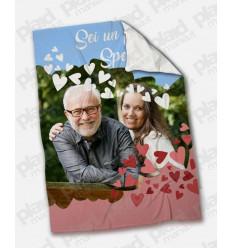 Plaid - Coperta in pile 130x180 Papà personalizzata con una foto - Sei un papà speciale