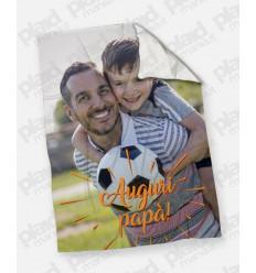 Plaid - Coperta in pile 200X180 Papà personalizzata con una foto - Auguri papà