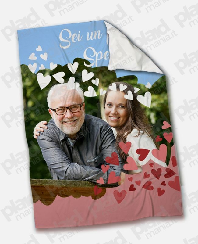 Coperta Pile Personalizzata Con Foto.Plaid Coperta In Pile 200x180 Papa Personalizzata Con Una Foto Sei Un Papa Speciale Plaid Mania