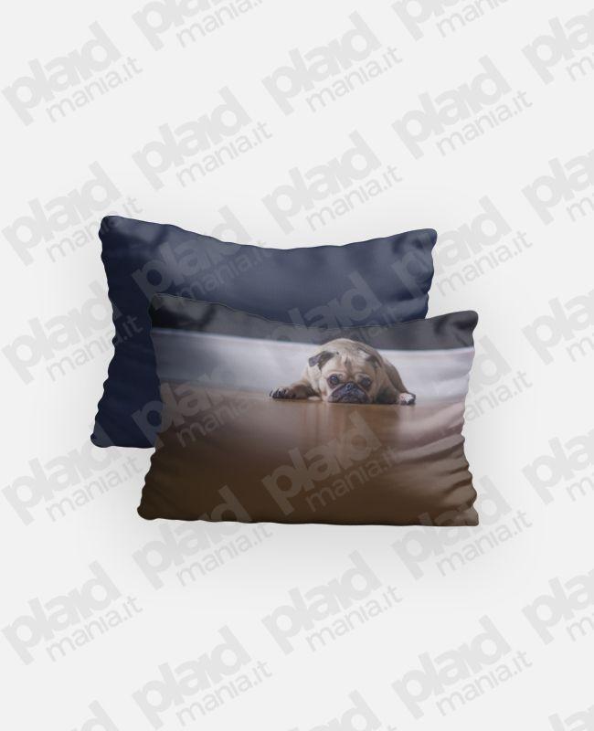 Federa cuscino singolo 80x50 personalizzato con foto fronte e retro