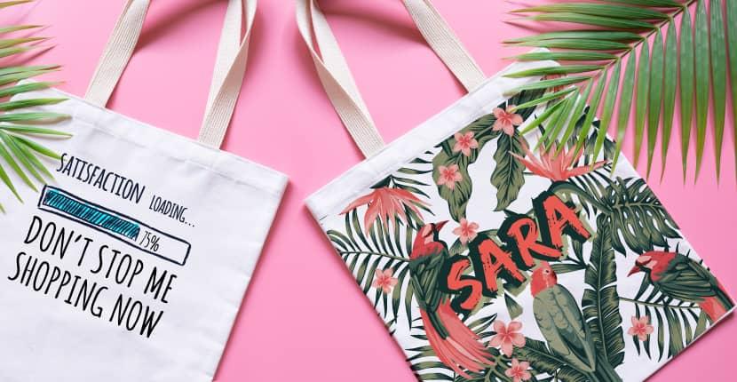 Shopper personalizzate con nome, foto, frase